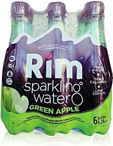 Rim Sparkling Water Apple 0.33L - Packof 6