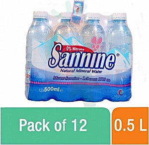 Sannine Mineral Water 12x0.5 L