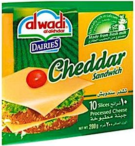 Alwadi Alakhdar Cheddar Cheese 200 g