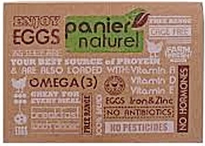 Bio Panier Naturel Eggs Omega 3 - 12 's