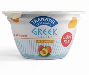 Taanayel Greek Yogurt & Peach Low Fat 150 g
