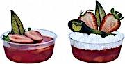 Jello Strawberry Cup