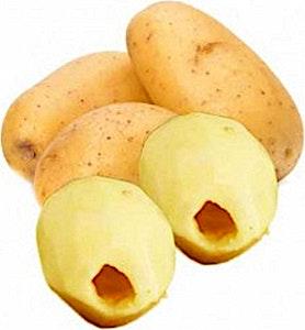 Hollowed Potato Plate 650 g
