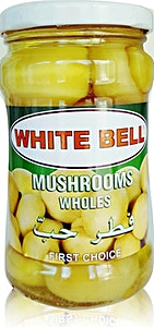 White Bell Whole Mushrooms Jar 280 g