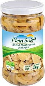 Plein Soleil Sliced Mushrooms In Jars 280 g