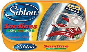 Siblou Sardines With Red Chili 125 g