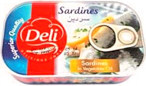 Deli Sardines In Vegetable Oil 125 g