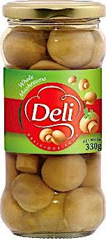 Deli Whole Mushrooms Jar 330 g