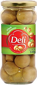 Deli Whole Mushrooms Jar 330 g