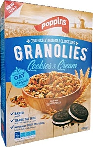 Poppins Granolies Cookies & Cream 400 g