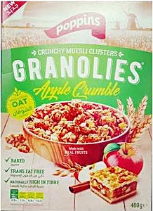 Poppins Granolies Apple Crumble 400 g