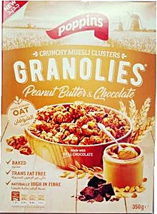 Poppins Granolies Peanut Butter & Chocolate 350 g