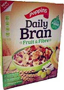 Poppins Daily Bran Fruit & Fibre 375 g