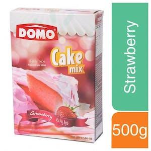 Domo Cake Mix Strawberry 500 g