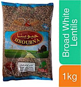 Hboubna Broad White Lentils 1000 g