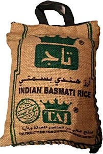 Taj Indian Basmati Rice Green 1.45 kg