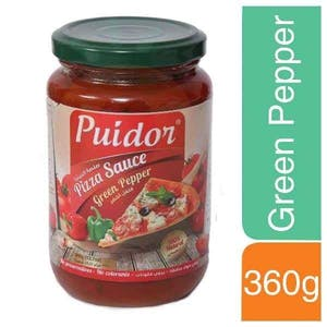 Puidor Pizza Sauce Green Pepper 360 g