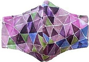 Geometric Purple Adult Washable Mask
