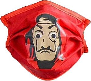 Red Dali Adult Washable Mask