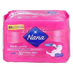 Nana Maxi Normal Wings 10's