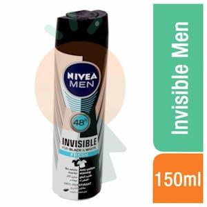 Nivea Invisible Fresh Black & White for Men 150 ml
