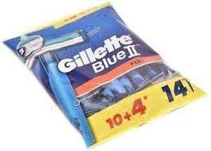 Gillette Blue II Plus 10's + 4 Free