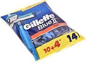Gillette Blue II Plus 10's + 4 Free