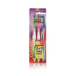 Colgate ZigZag Toothbrush Medium 2+1 Free