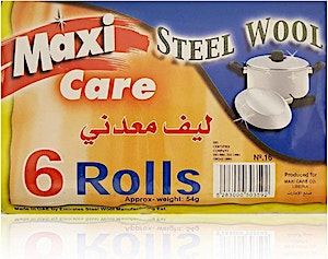 Maxi Care Steel Wool 6 rolls