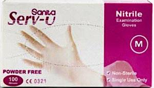 Sanita Nitrile Blue Gloves Powder Free Medium