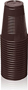 Trust Plastic Cup Brown 180 cc x 100's