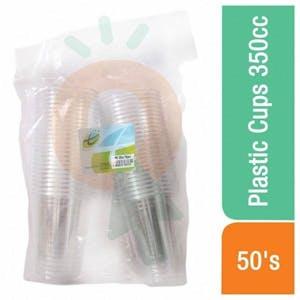 Plastic Transparent Cups 350 cc x 50's