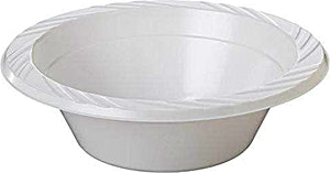 Milk Plastic Bowl 25's