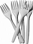 Somo Plastic White Forks 100's