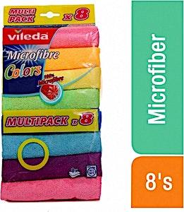 Vileda Microfibre Colors 8's