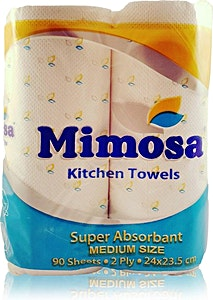 Mimosa Kitchen Towels Medium 2 rolls x 90's
