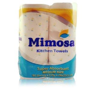 Mimosa Kitchen Towels Medium 4 Rolls x 90's