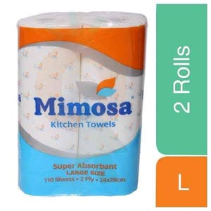 Mimosa Kitchen Towels Large 2 Rolls