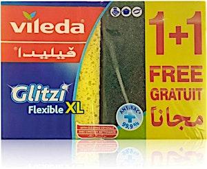Vileda Glitzi Flexible XL Scourer - 1 + 1 Free