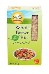 Nabat Organic Whole Brown Rice 1 kg