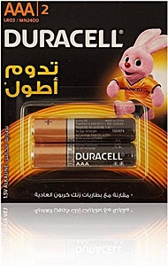 Duracell Battery AAA 2's
