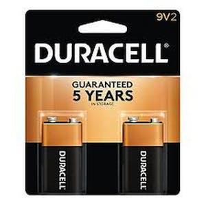 Duracell Battery 9 volt *2