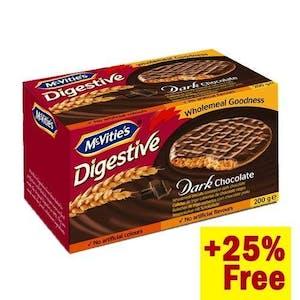 McVitie's Digestive Dark Chocolate 200 g + 25%