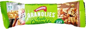 Poppins Granolies Apple Crumble Oat Bar 30 g