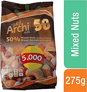Al Kazzi Archi 50% Mixed Nuts 225 g