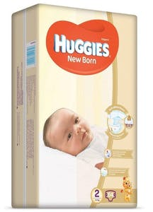 Huggies New Born 2 64's - 25 % Off