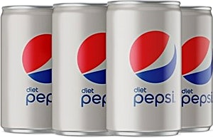 Diet Pepsi Can 150 ml + 35 ml Free - Pack of 6