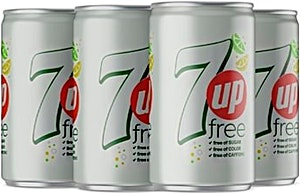 Diet 7up Can 150 ml + 35 ml Free - Pack Of 6