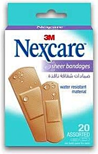 Nexcare Sheer Bandages 3M 20's