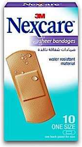Nexcare Sheer Bandages 3M 10's